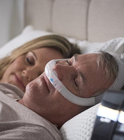 AirFit-P30i-tube-up-nasal-pillows-CPAP-mask-sleep-apnoea-patient