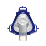 Nasal-hospital-vented-mask-respiratory-therapy-front-view-resmed