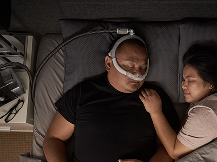 Patient-wearing-ResMed-AirFit-P30i-nasal-pillows-freedom-mask