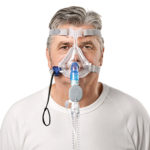Quattro-Air-non-vented-full-face-mask-worn-by-patient-resmed